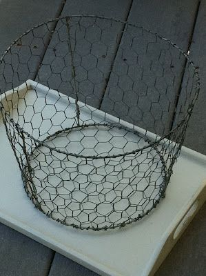 center of attention deficit disorder: a tisket, a tasket, a chicken wire basket..---completed