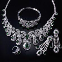 Женщины Свадебные Ювелирные Наборы родием с Кубической циркон 4 шт. наборы (ожерелье + браслет + серьги + кольцо) бесплатная отправка(China (Mainland))