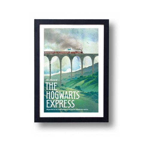 Harry Potter Poster Hogwarts Express Travel Poster, Harry Potter Art, Harry Potter Diagon Alley, Harry Potter Wall Art Train #affiliate