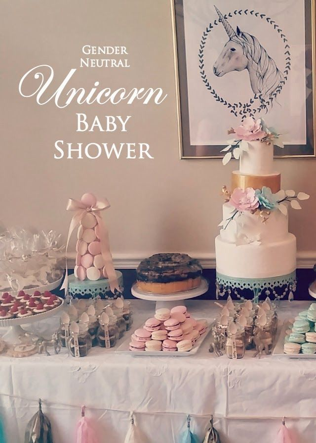 Gender Neutral Unicorn Baby Shower | Azucar by Alexandra ...