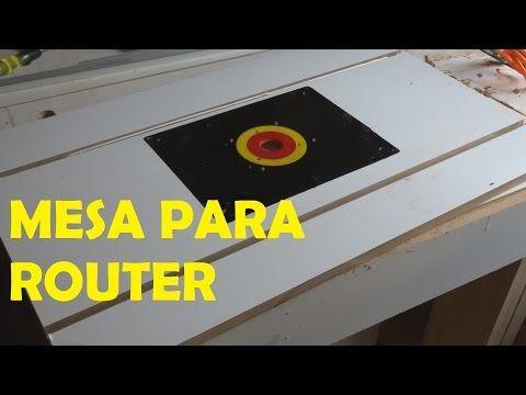 COMO HACER MESA FRESADORA - MESA TUPI - Herramienta de presición - tu propia mesa casera - YouTube