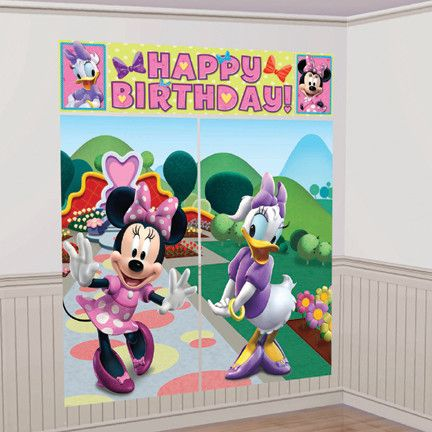 Minnie Mouse Scene Setter Wall Decorating Kit | 1 ct