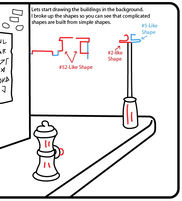 How to Draw a Cartoon City Street Sidewalk Scene with Easy Step by Step Drawing Tutorial « How to Draw Step by Step Drawing  Website has lots of tutorials And ideas To teach you how To draw. Fun!