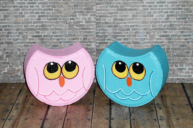 Owls Made From Pavers