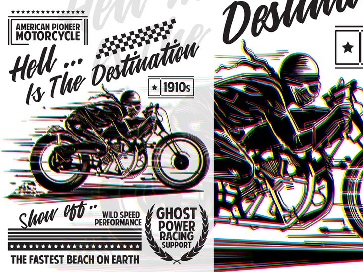 American Pioneer Motorcycle T-Shirt Template by Tiar Prayoga - Dribbble