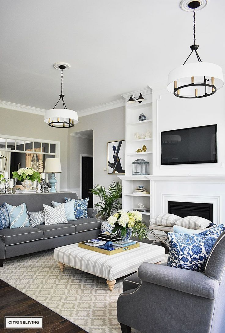 Blue Living Room Ideas For A More Breathtaking Living Room: Ideas For Using Blue And White Decor Including Tips For
