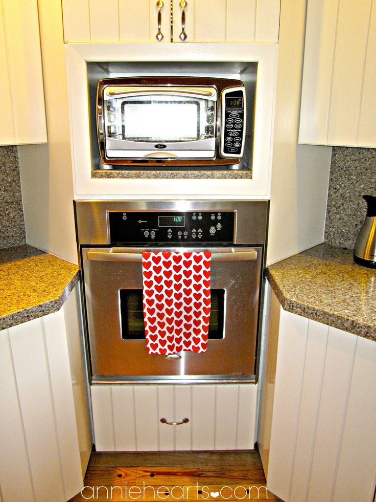 Under Counter Microwave For Easier Works: Use Leftover Countertop To Put Under Microwave/toaster