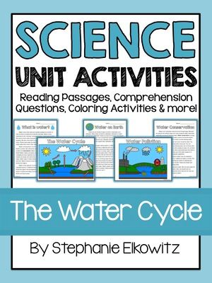 The Water Cycle, Water Pollution and Water Conservation from Stephanie Elkowitz on TeachersNotebook.com (56 pages)