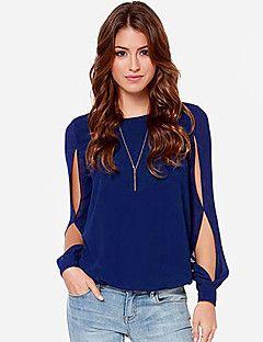 ajuste flojo camiseta ocasional de las mujeres q.s.h