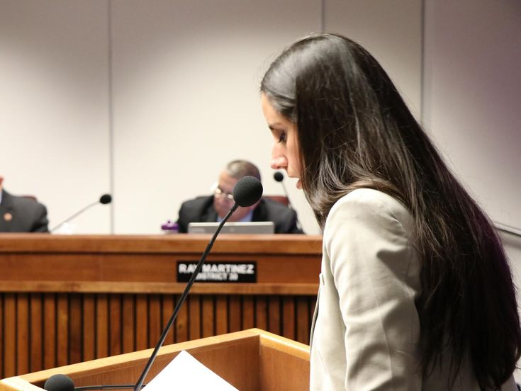"""A sensitive women's health issue came before the Committee on Military, Veterans and Regulatory Affairs on Monday: the price of pads and tampons in Arizona prisons. Not all the committee members were comfortable with the idea. """"In our prison system,"""" Rep. Athena Salman said, addressing nine of her male colleagues, """"a 16-count of Always ultra-thin, long pads cost $3.20."""" """"Rep. Salman, Can you keep your conversation to the bill itself? Please?"""" Rep. Jay Lawrence interrupted."""