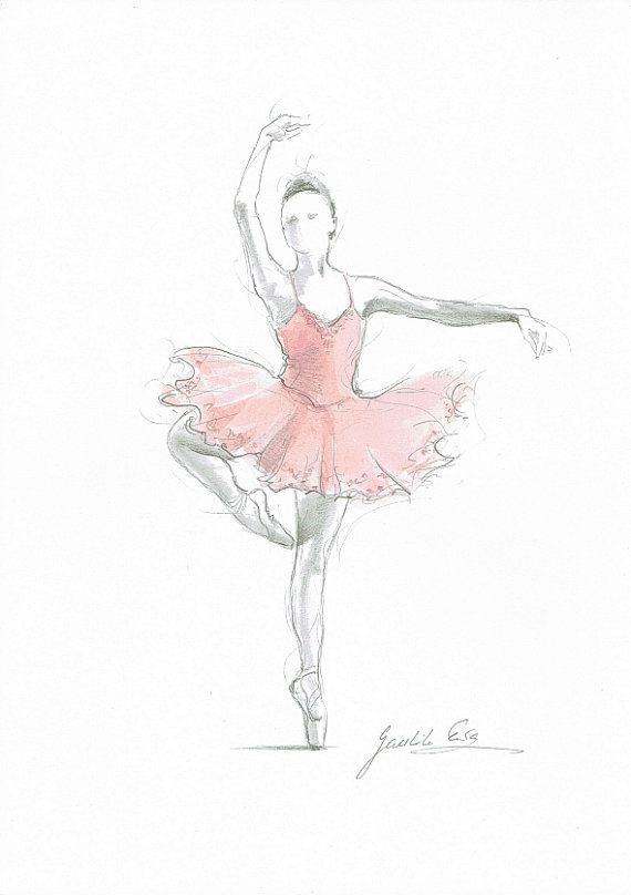 Set of 2 Prints, Ballerina Art, Pink Ballerina, Watercolor Ballet, Ballet Drawing, Pink Tutu, Ballet Art, Ballet Painting, Ballerina Picture