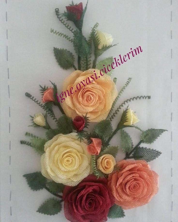 bir yıl önce sipariş olarak yaptığım güllerini cok sevdiğim pano
