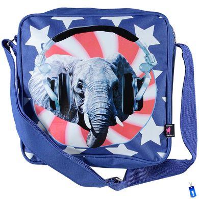 de kunstboer schoudertas olifant vierkant
