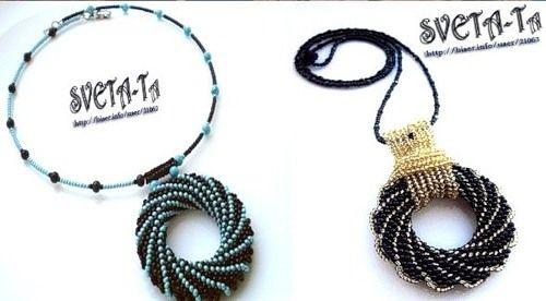 Great pendants, beaded by Mi Delicias