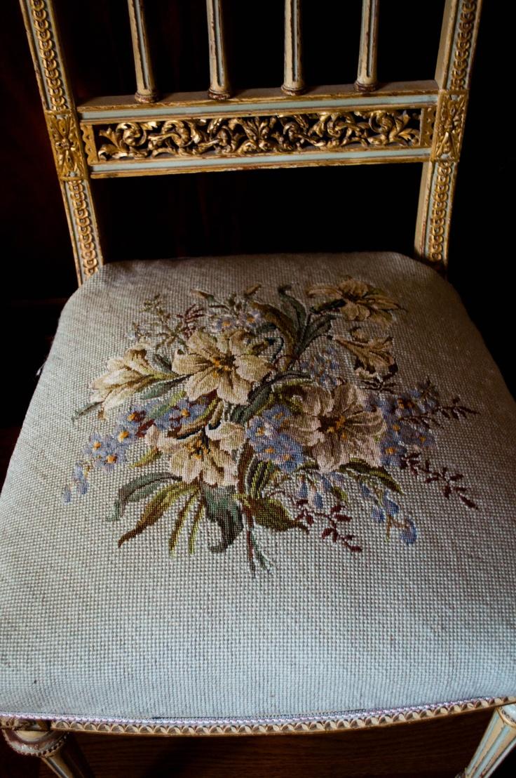 Antique boudoir chair