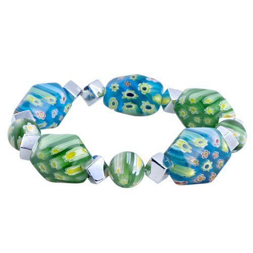 Pugster Turquoise Green Millefiori Murano Glass Bracelet Pugster. $11.99. Handmade in China in the VenetianáMuranoáStyle. Great to give away as presents, gifts to friends or family members.. Money-back Satisfaction Guarantee. Free Jewerly Box.. Stunning Colorful Murano Glass Style Designer Fashion bracelet