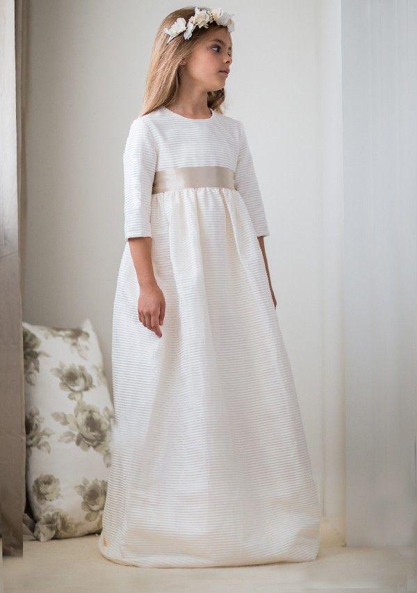"""Vestido comunión """"canutillo beige"""" - Petritas S.L."""