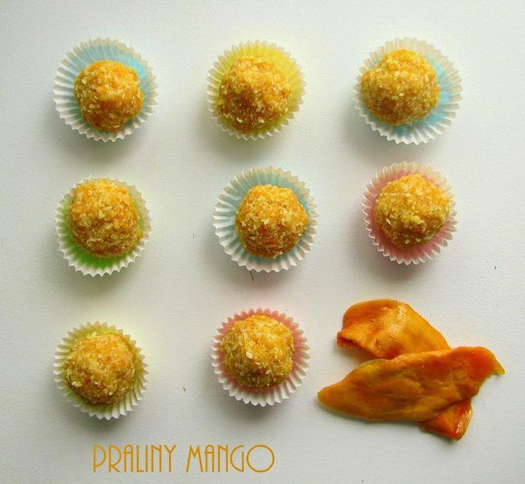 Co Wy na to? Ja jestem na tak. Zdrowe słodycze zawsze w cenie. Szczególnie, gdy jest się na diecie. Receptura na te aromatyczne praliny niestety nie jest moja, a znaleziona w Przepiśniku kupionym jakiś czas temu w Biedronce. Minimalnie zmieniłam przepis dodając do masy nieco miodu. Niestety suszone mango nie jest łatwo zdobyć. Mi się …