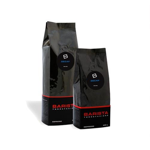Espresso décaf:  La cuisson ce cette recette de café faite à partir de cafés en provenance d'Amérique du Sud et d'Afrique. Ce mélange possède toutes les caractéristiques d'un espresso italien type. À partir de $9.50