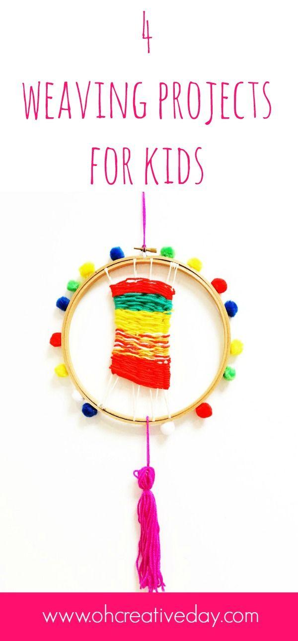 4 Weaving Projects For Kids Weaving For Kids Weaving Projects