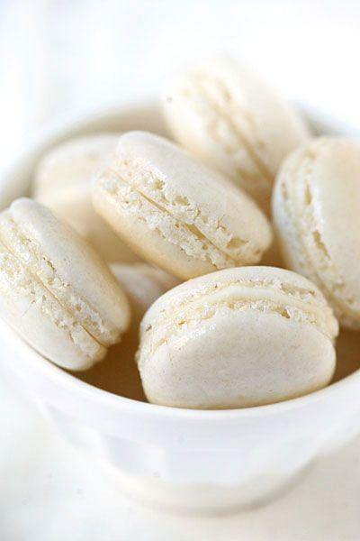 Des Macarons, Macarons Blancs2 Sl, Macarons French, Sweets Macarons ...