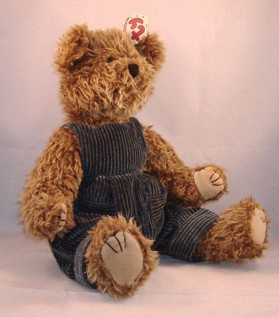 debbi oranzi  Vintage TY Bear  Grover Light Brown Scruffy Bear in by doranzi, $20.00