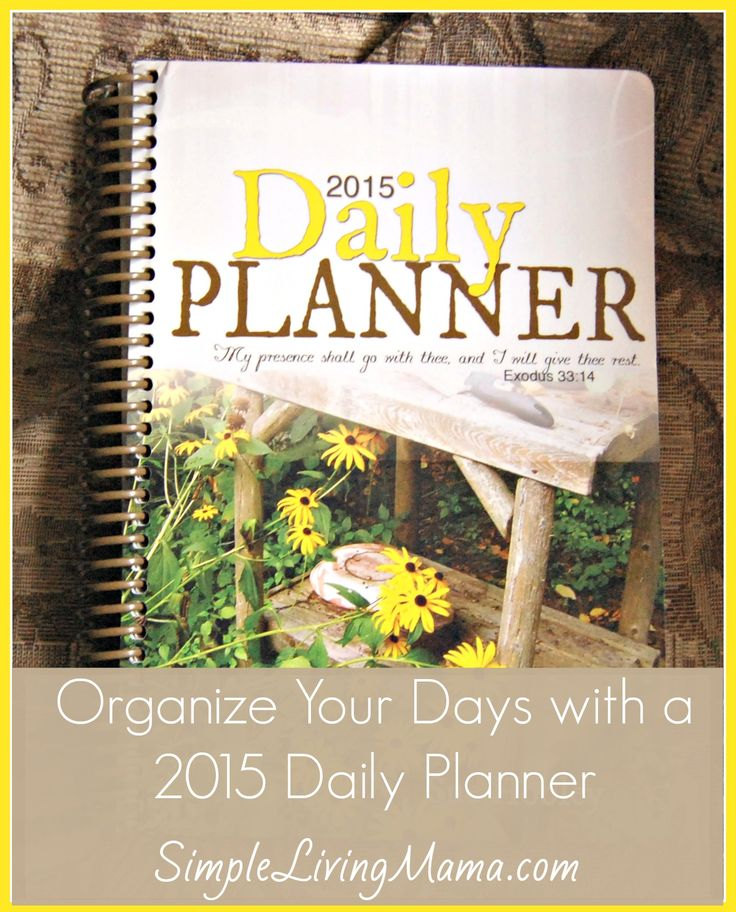 How To Organize Your Life with a 2015 Daily Planner - Review & Giveaway - This is the perfect planner for every on-the-go homemaker. There's a section for everything, even shopping lists you can tear out and take with you to the store! Giveaway ends 10/13!