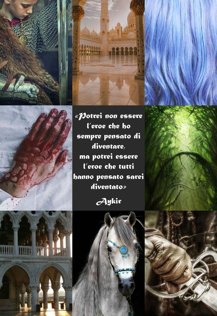 """Aykir è un personaggio di """"Soffitti Sconosciuti"""", ©Elena De Martino (Frase e descrizione in italiano)"""