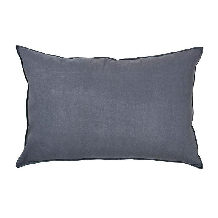 Overlock Kissenbezug 40x60 cm, Flint Stone Blue - Broste Copenhagen - Broste…