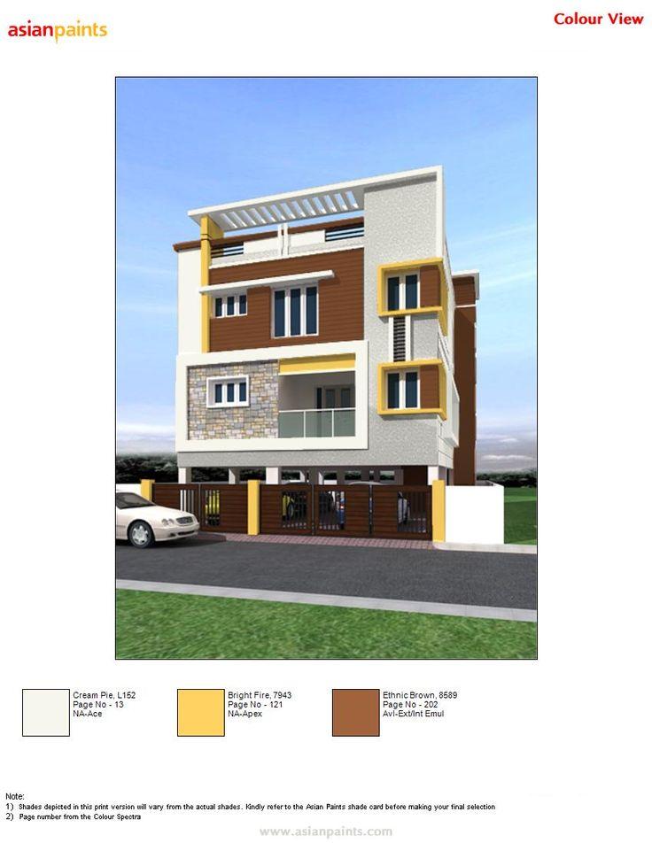 10 best exterior colour combination images on pinterest - Apartment exterior colour combination ...