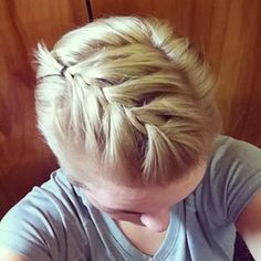 Capitalise on your longest layers with a braid. | 17 Things Everyone Growing Out A Pixie Cut Should Know