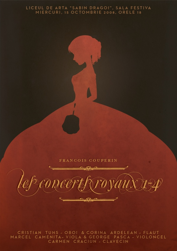 Concerts Royaux (1-4) Poster by Annie Berzovan, via Behance