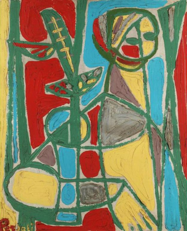Περσάκη Γιάννα – Gianna Persaki [1921-2008] Cubist composition