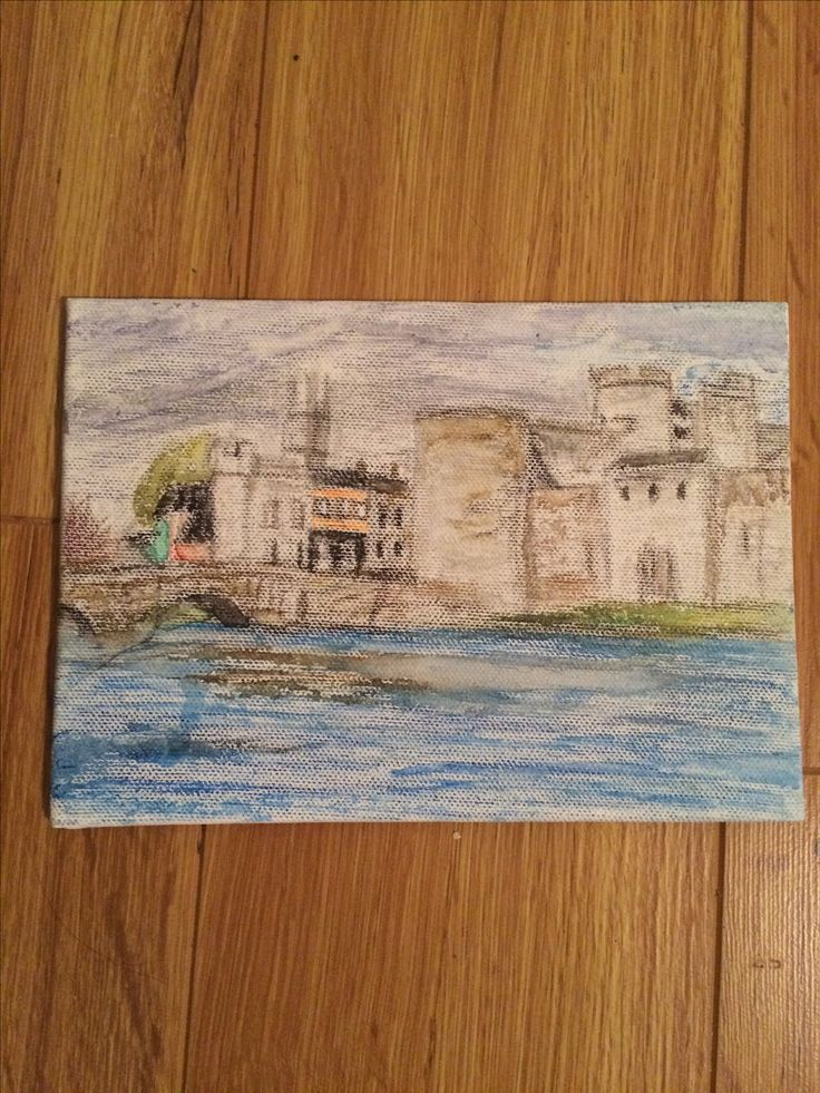 Watercolour pencil sketch of King Johns Castle, Limerick