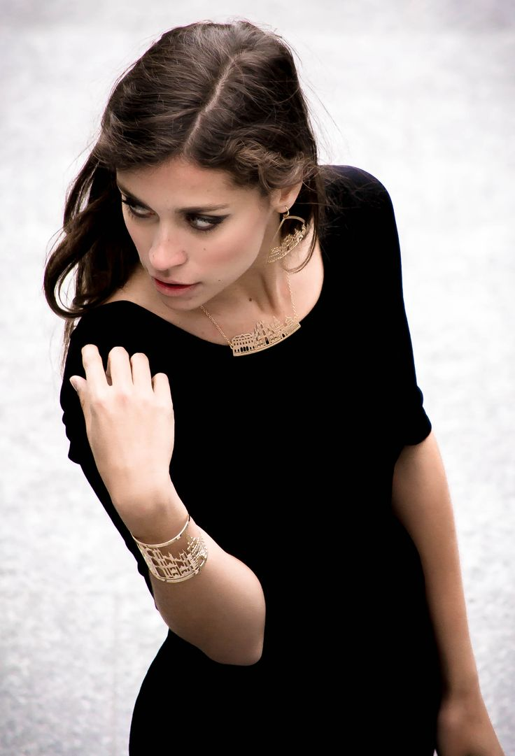 Milano skyline necklace, earrings and cuff