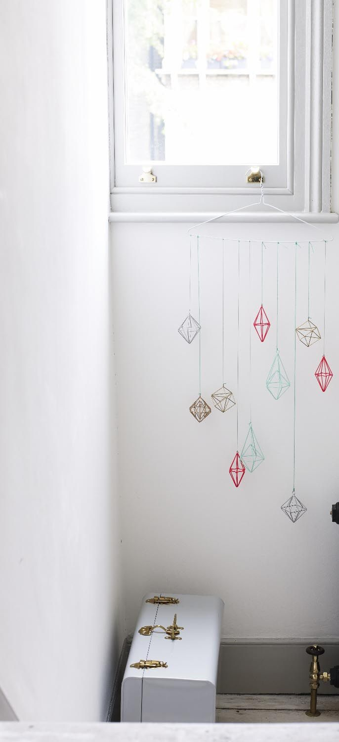 Not just for Christmas, these hanging decorations can be displayed in your home to create an unique feature all year round.