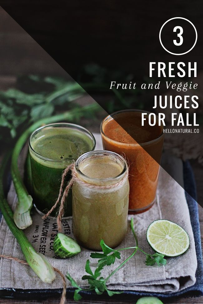 3 Fresh, Healthy Juice Recipes for Fall