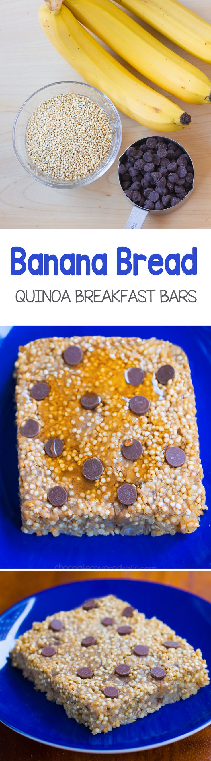 """Banana Bread Quinoa Breakfast Bars – a wholesome """"grab and go"""" breakfast that nourishes your body & fills you up for hours!… @choccoveredkt http://chocolatecoveredkatie.com/"""
