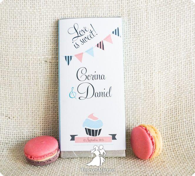Invitatie de nunta ciocolata Love is Sweet