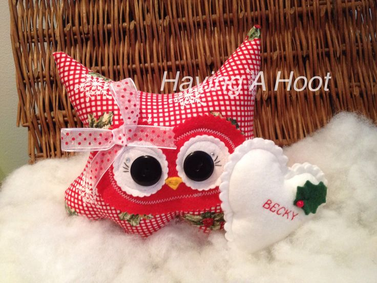 Christmas Hootie ... With her special Heart ... For somebody special ❤️ bespoke x