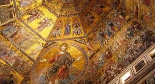 Mosaici all'interno del battistero di San Giovanni, Firenze
