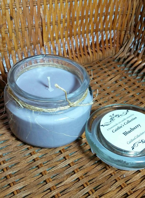 Blueberry Scented Homemade Soy Candle // 10 by CaitlinsCollection