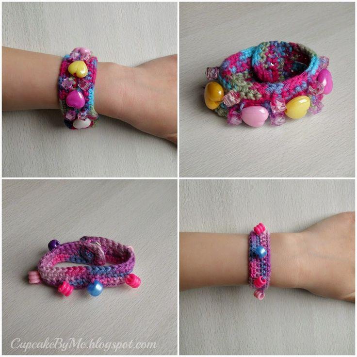 Cupcake By Me ©: En halvtimers projekt - hæklet armbånd med perler