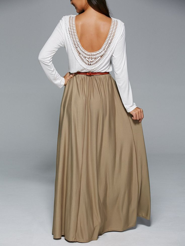 Maxi Hollow Out Backless Dress
