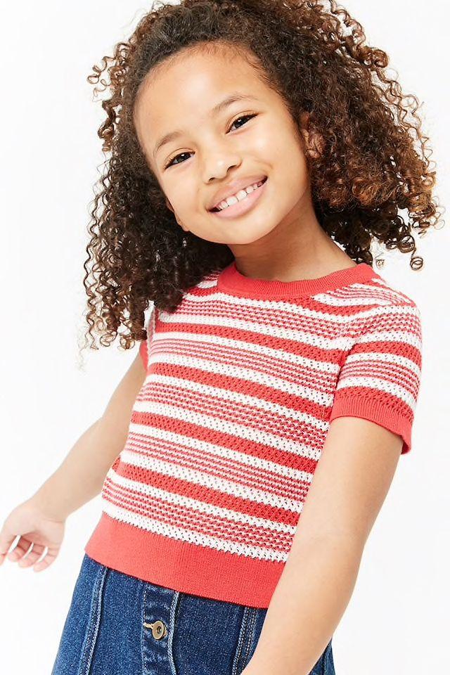 f1727fe066f71a Girls Striped Open-Knit Top (Kids)