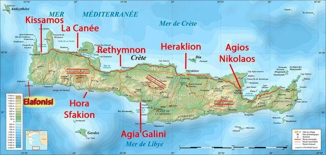 carte de la crete