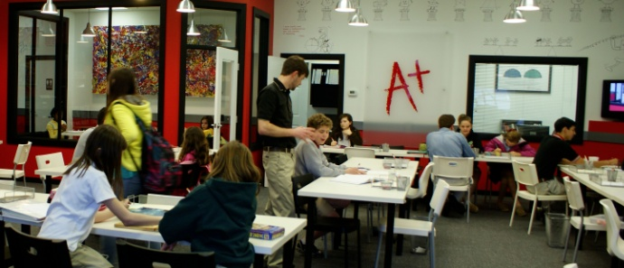 A busy Mathnasium in Knoxville, TN!