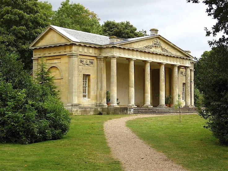 Temple Greenhouse built for the Earl of Conventry by Robert Adam at Croome Court in 1760.