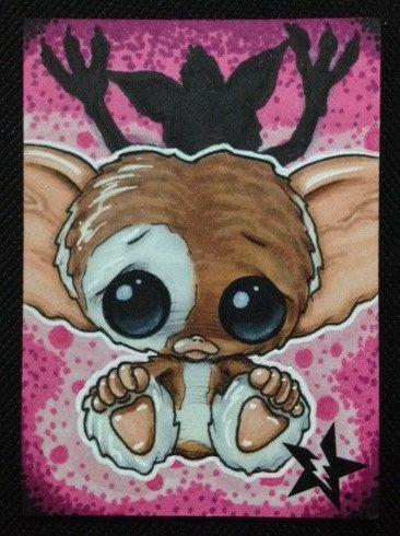 Too cute ^-^  Sugar Fueled Gizmo Gremlins lowbrow creepy cute by Sugarfueledart, $4.00