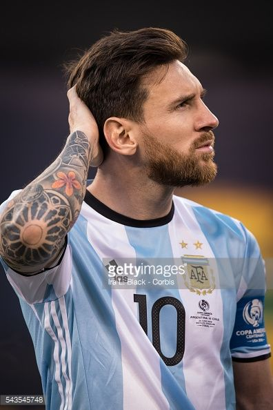 Argentina forward and Captain Lionel Messi (10) during the Copa America Centenario Final Argentna vs Chile Soccer, 2016 on June 26, 2016 at Met Life in East Rutherford, NJ, USA . The score was tied at 0 to 0 at the end of regulation play and then added time. Chile won the match 4 to 2 in penalty kicks to win the Copa America Final. Photo by Ira L. Black/Corbis via Getty Images